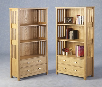 Felix Ash Veneer 2 Drawer Bookcase