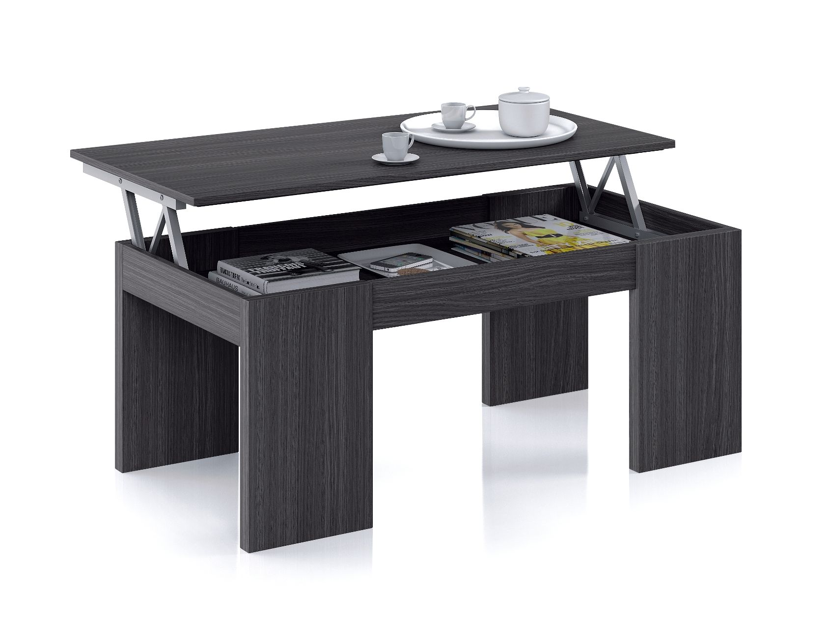 Florence Lift Up Storage Ash Grey Coffee Table G