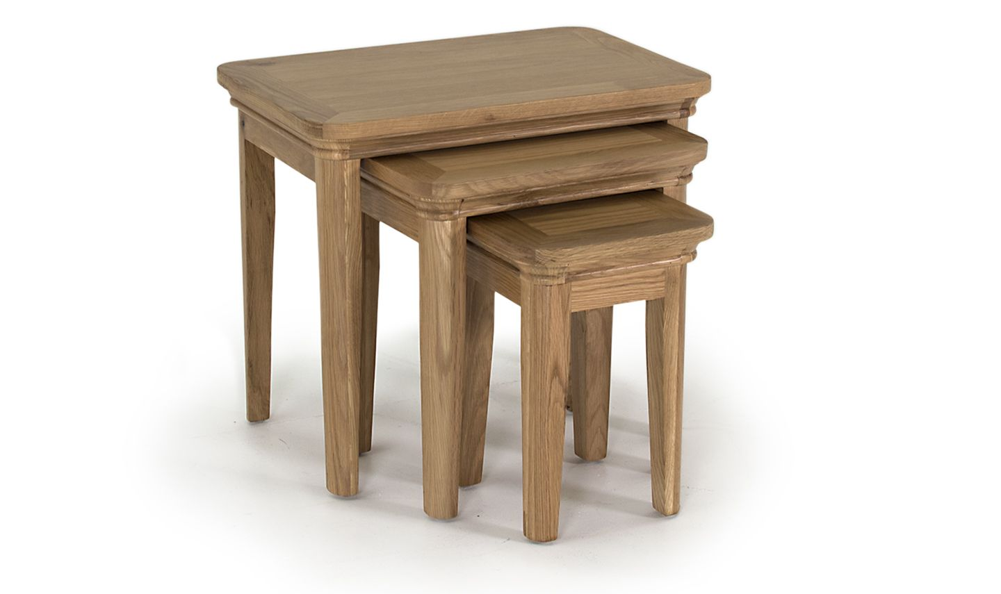 Solid Oak Nest Of Tables Uk Choice Image Bar Height