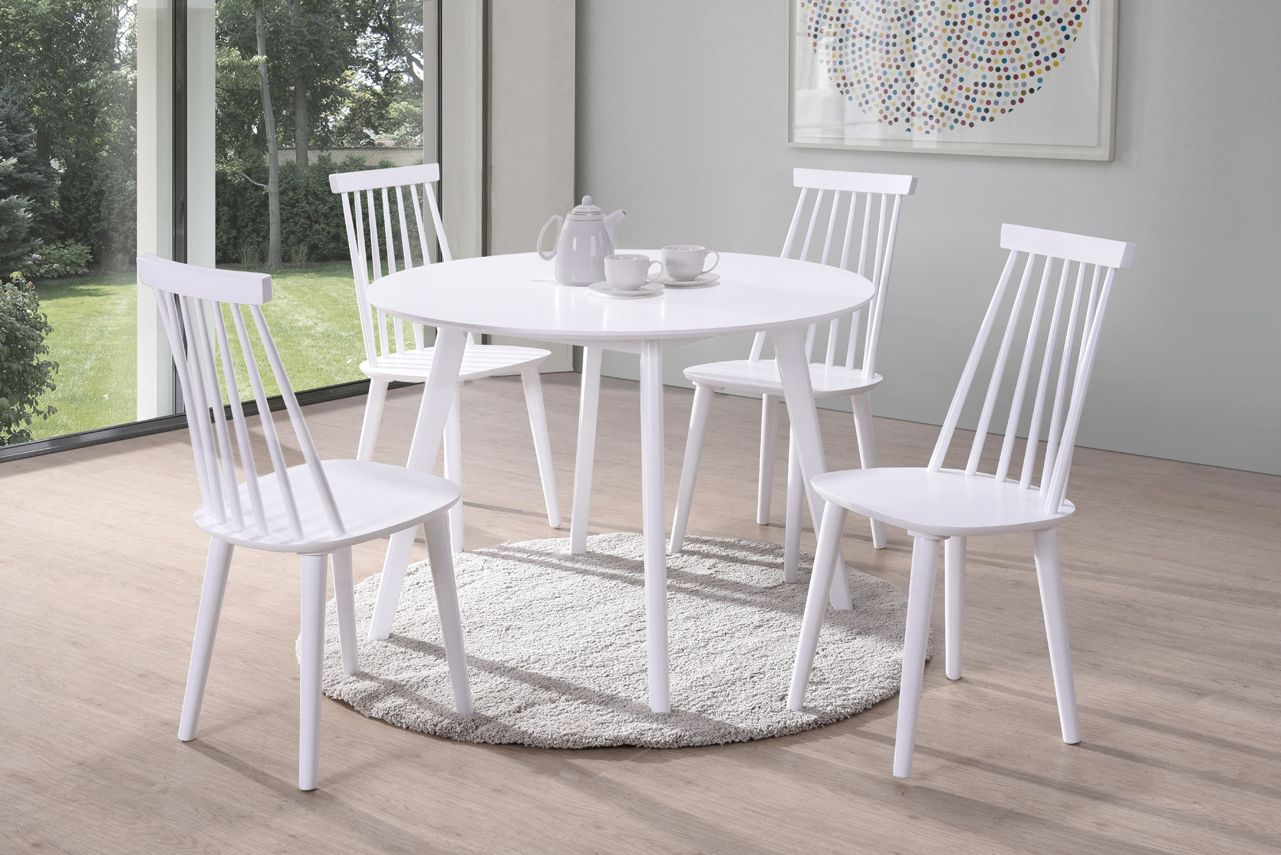Formia White Round Dining Table 218vd539