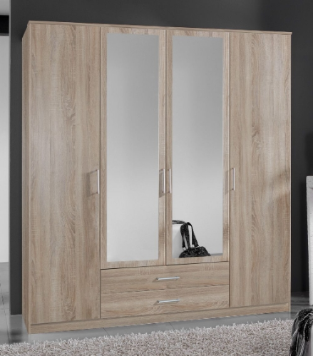Genoa 4 Door German Wardrobe Oak Effect (112453)