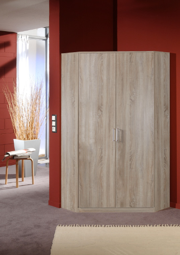 Genoa Oak Effect 2 Door German Corner Wardrobe  (112511)