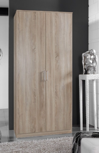 Genoa Oak Effect 2 Door German Wardrobe  Bedroom Furniture (112202)