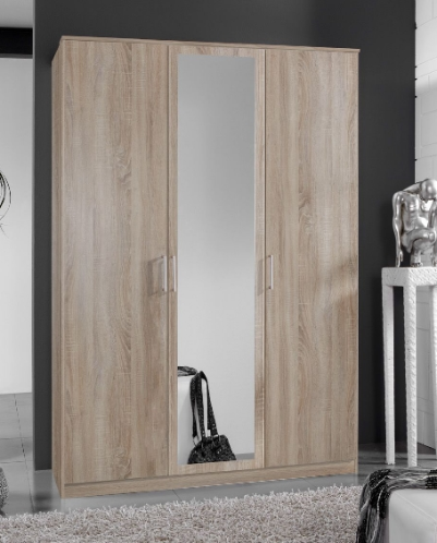 Genoa Oak Effect 3 Door German Wardrobe  (112482)