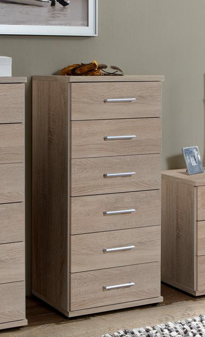 Genoa Oak Effect Narrow Chest Of Drawers (112318)