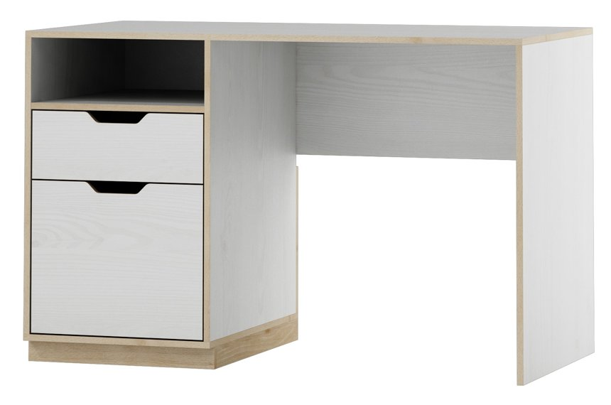 Gilmore White And Beech Effect Computer Office Desk SZHP40