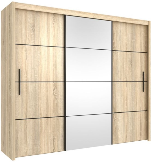Large wardrobe set 3 door sliding wardrobe with sliding doors