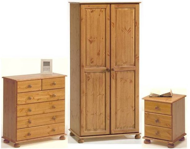 Kalbeck Pine 2 Door Wardrobe Bedroom Set