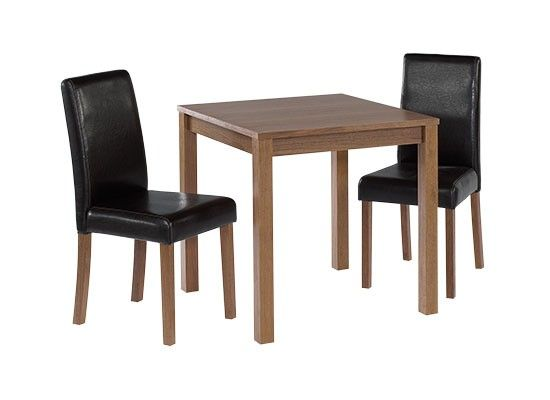 Langres Small Walnut Finish Dining Table With 2 Chairs 17LD331