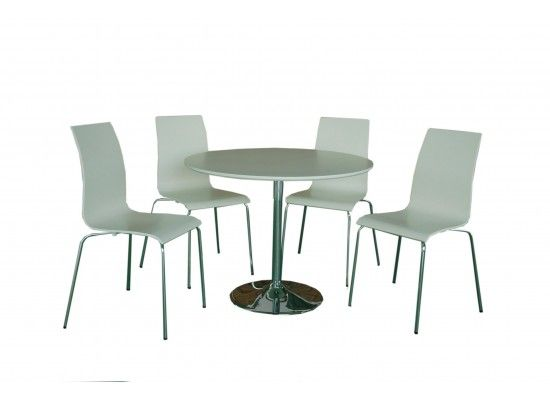 Lievin Matt White Dining Set 17LD479