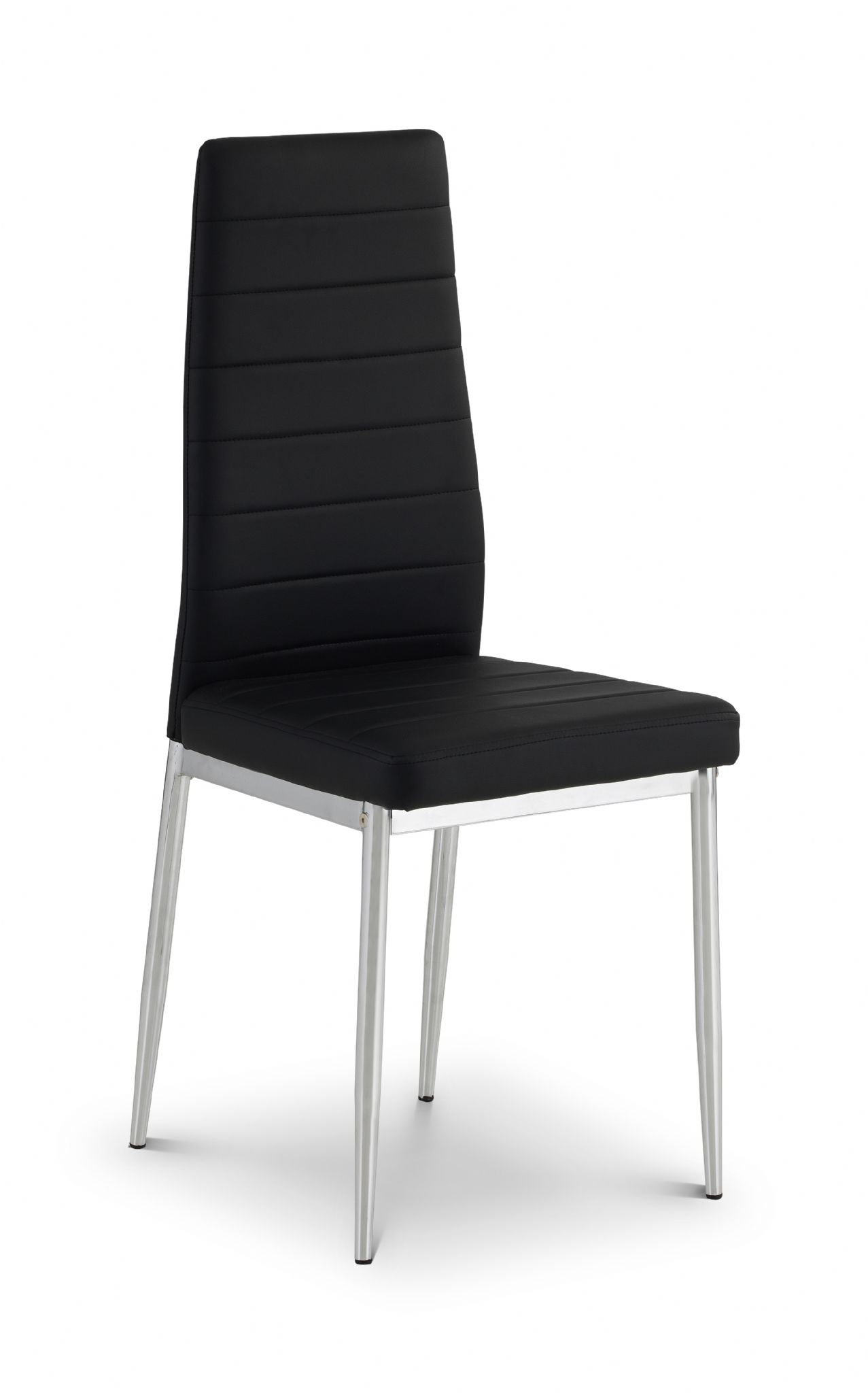 Fine Livorno Chrome And Black Faux Leather Dining Chair Jb220 Pabps2019 Chair Design Images Pabps2019Com
