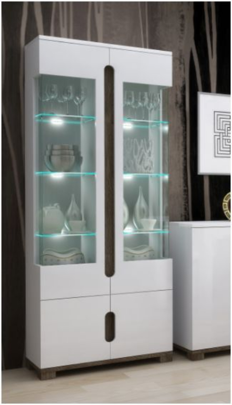 WOW Display Cabinets with Glass Doors by FurnitureFactor.co.uk