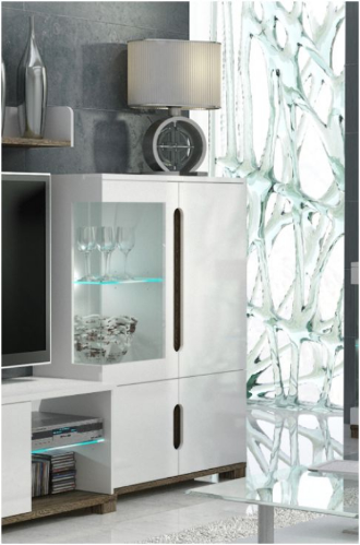 White Cabinet With Glass Doors | White Sideboard Cabinet