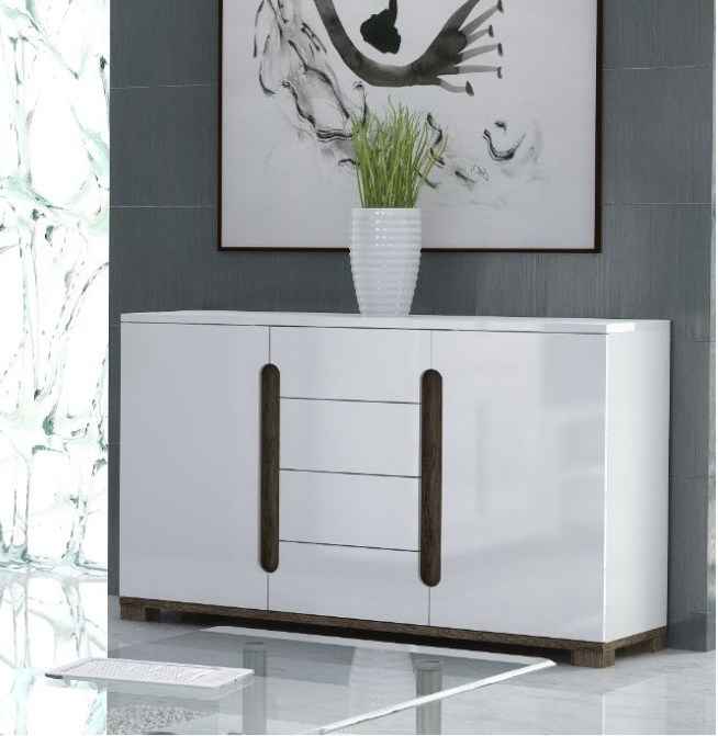 White Sideboard Cabinet High Gloss White Wide Sideboard