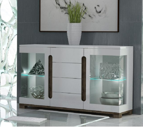 Sideboard With Glass Doors |Sale At Furniture Factor UK