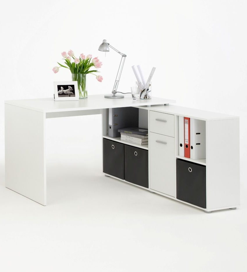 Luna L Shaped Computer Desk White By Furniturefactor