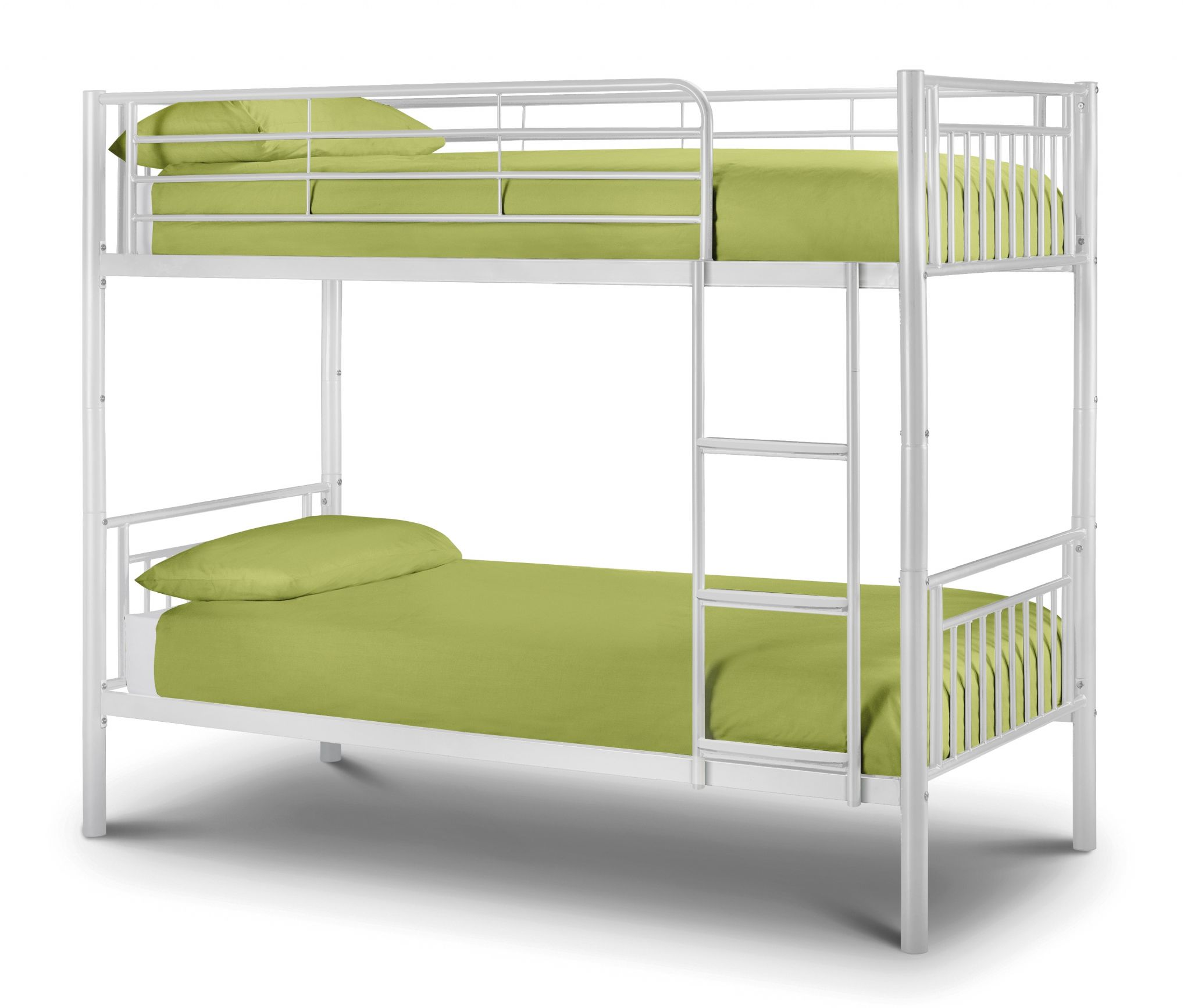 Picture of: Majorca White High Gloss 90cm Single Bunk Bed Jb60