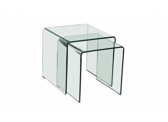 Maubeuge Bent Glass Nest Of Tables 17LD486