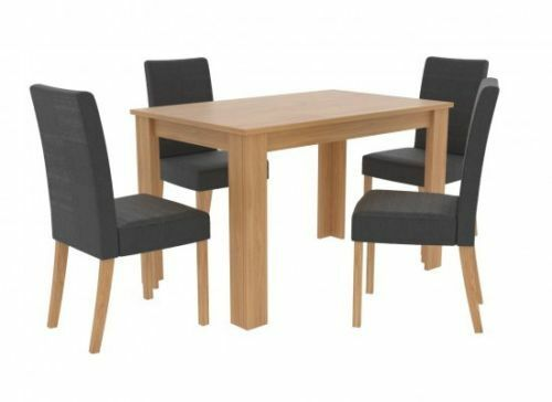 Menton Black And Oak Effect Dining Set 19LD588