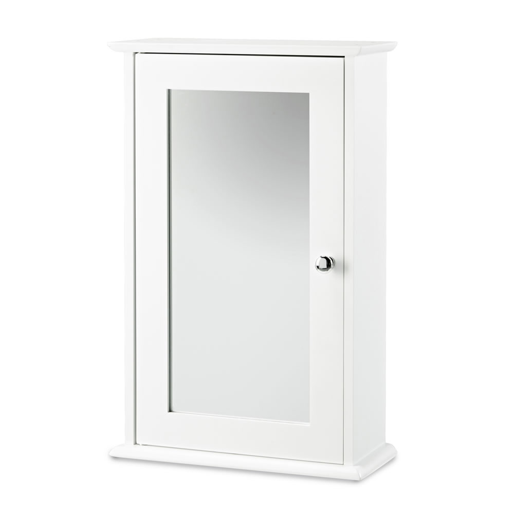 Nantes White Mirrored Wall Cabinet 17LD10