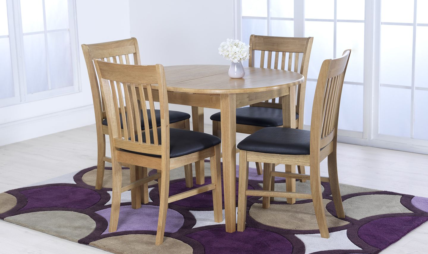 Admirable Nola Solid Hardwood Oak Finish Extending Dining Table 18Vd279 Bralicious Painted Fabric Chair Ideas Braliciousco