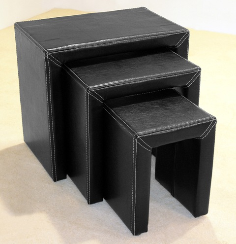 Orlando Black Nest Of Tables HL314