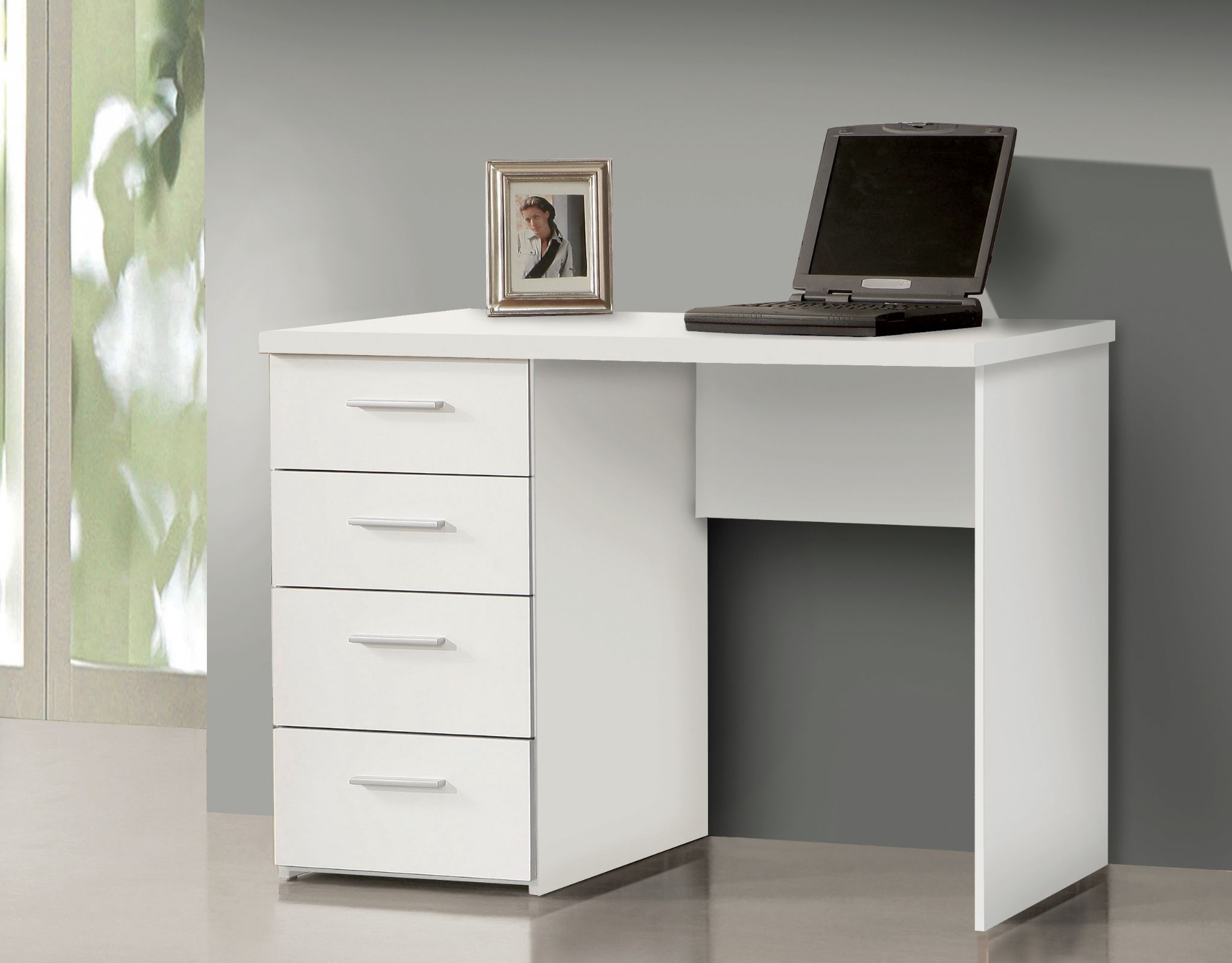 Attrayant Pulton Small White Desk With Drawers MT935