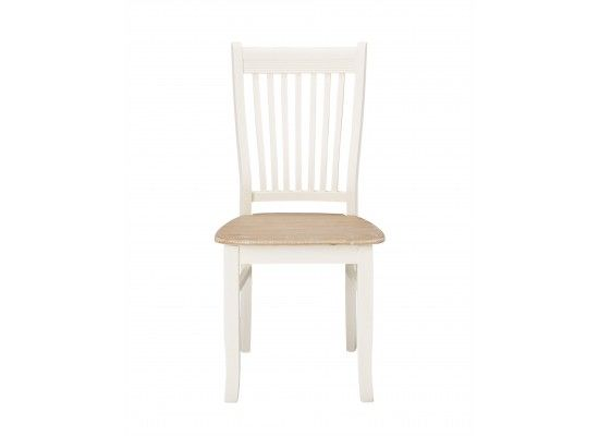 Rennes Soft White And Cream Set Of 2 Dining Chairs 17LD376