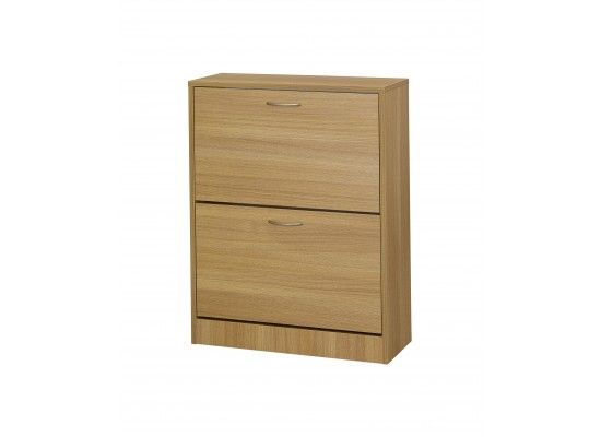 Rideau 2 Door Oak Finish Shoe Cabinet 17LD538