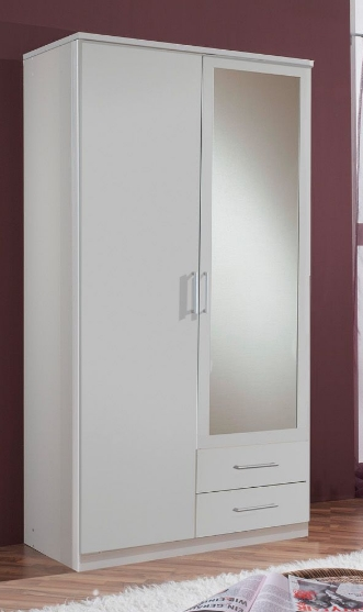 Roma 2 Door 2 Drawer Wardrobe Almirah White 603209