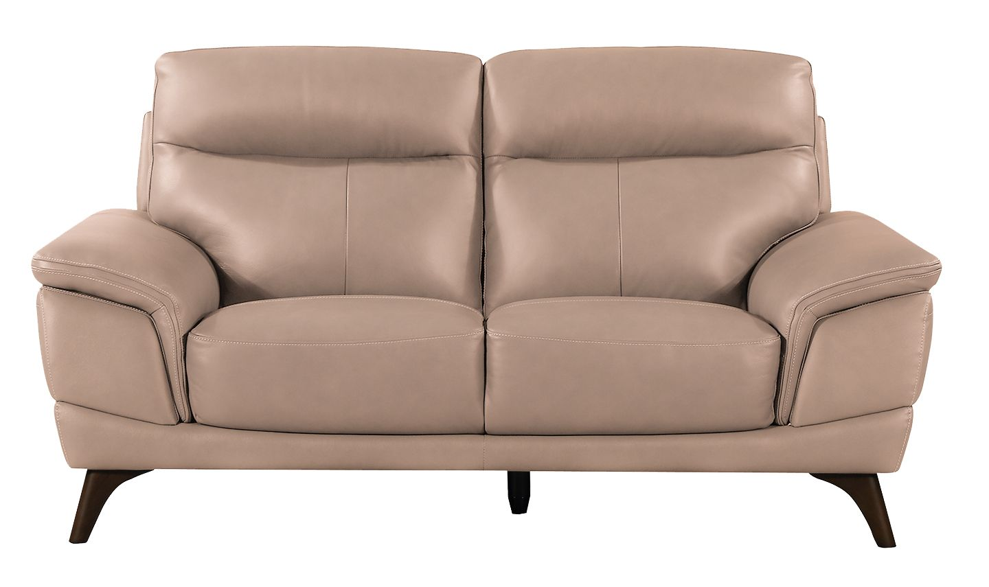 Salerno Taupe Leather 2 Seater Sofa 18vd288