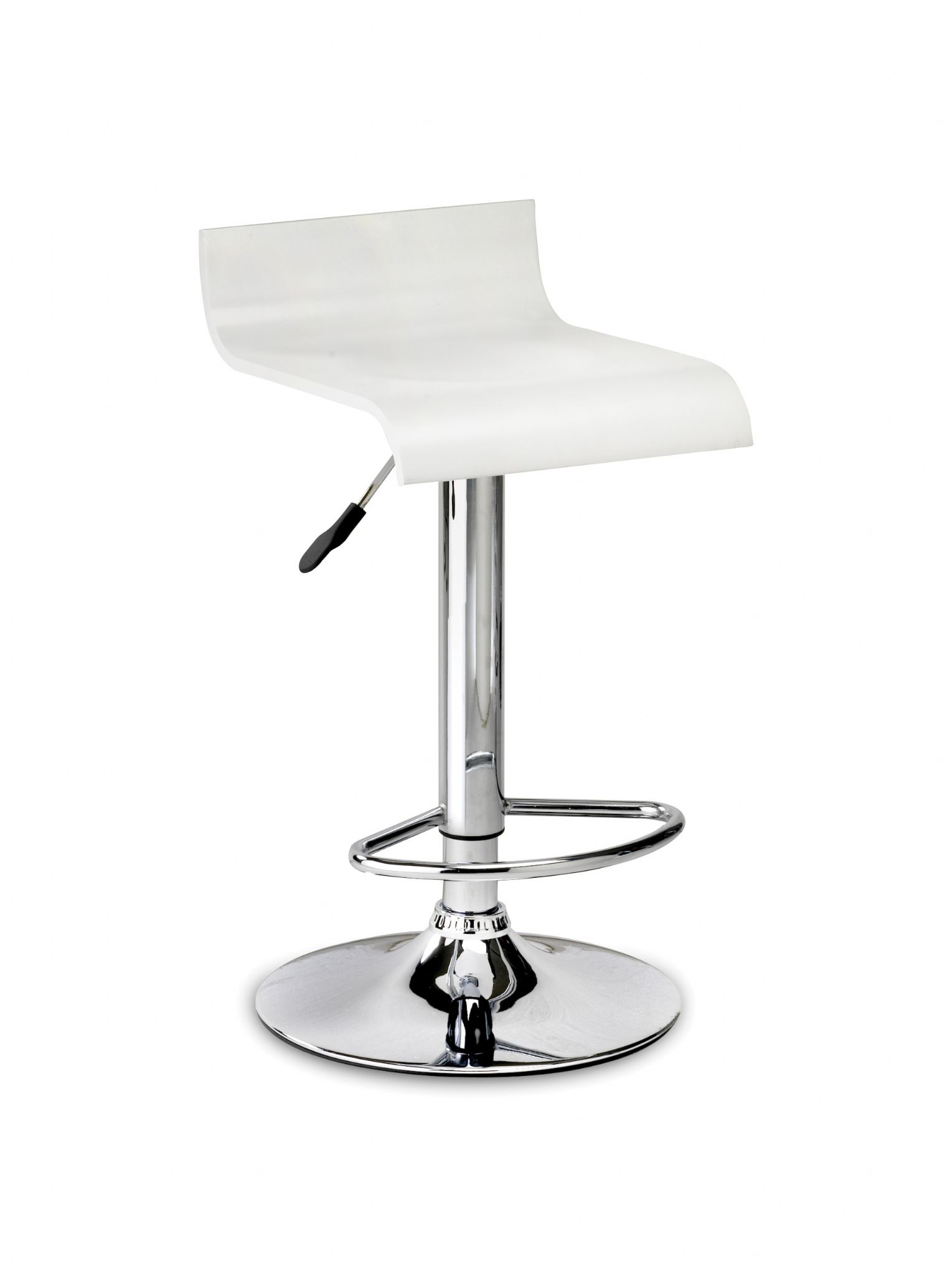 Sicily white lacquer with chrome stool jb535 for Motorized bar stool for sale