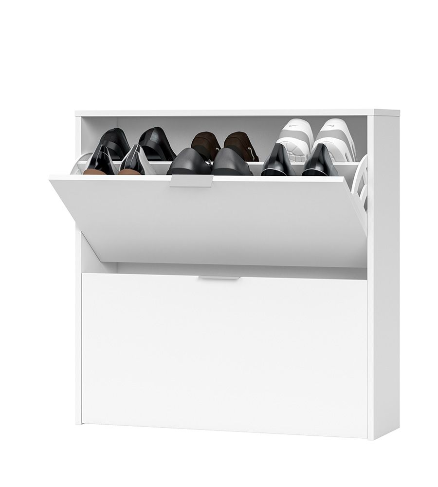 Soles 2 Drawer Shoe Cabinet White- 2893