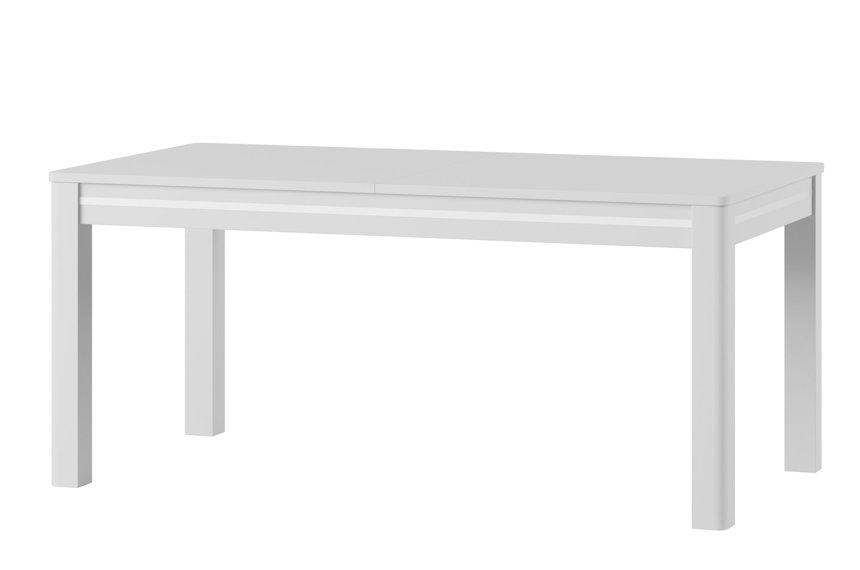 Sunny White High Gloss Extending Dining Table