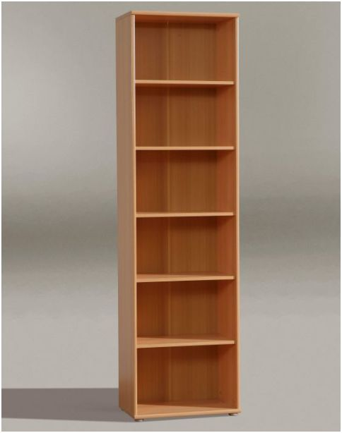 Tempra Tall Narrow Bookcase Bookshelf Furniture Beech