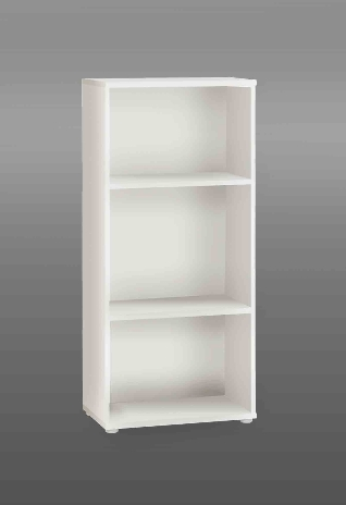 Tempra White Low Narrow Bookcase KR50-120