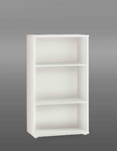 Tempra White Wide Short Bookcase KR40-120