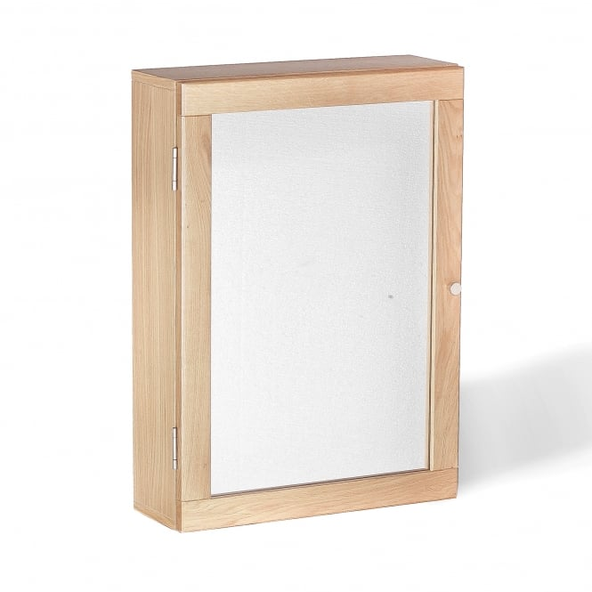 Toulouse Solid Oak Mirrored Bathroom Wall Cabinet 17LD17