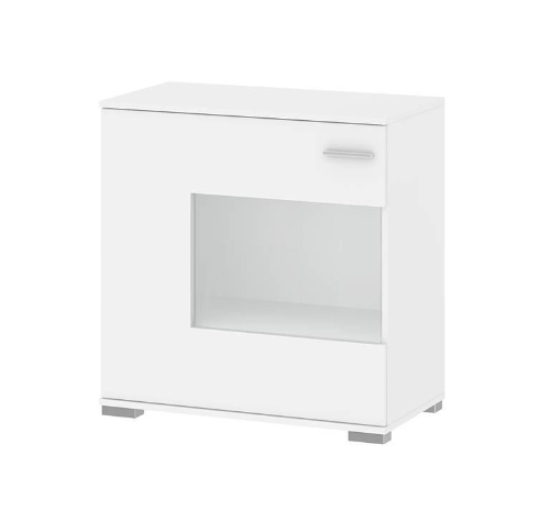 Velo White Compact Sideboard with Glass Door 74034
