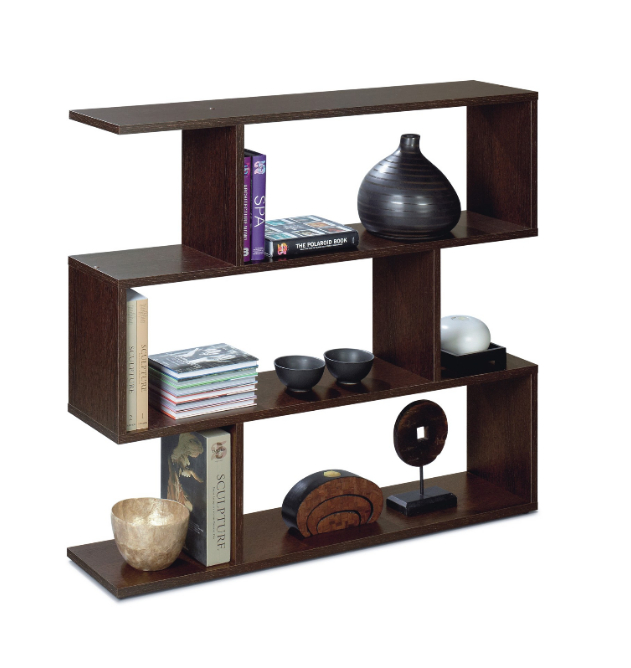 Venice Short Open Back Wenge Brown Bookcase 2506