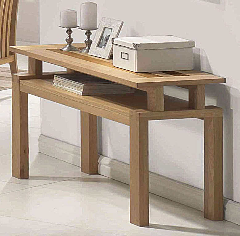 Venna solid oak console table hl87 for Sofa table pictures