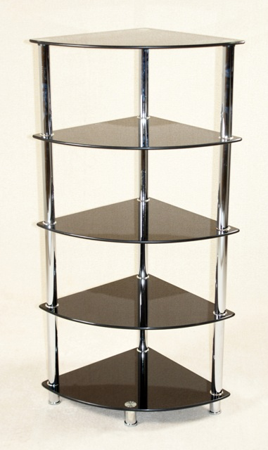 Villano Black Corner Rack 5 Tier HL377