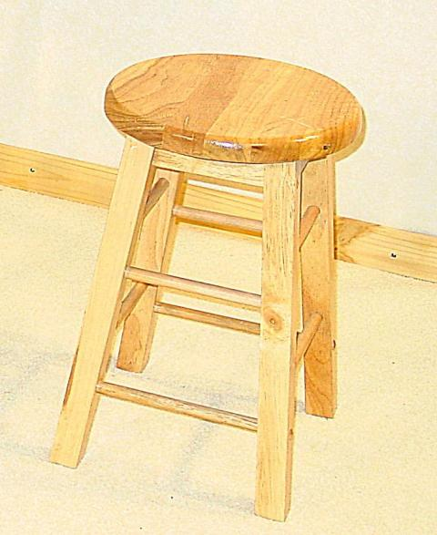 "Zampoli 18"" Pine Bar Stool x 2 HL469-18"